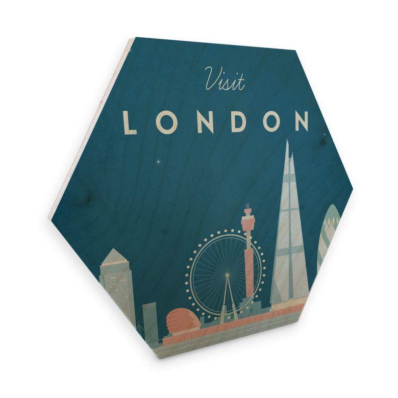 Hexagon - Holz Birke-Furnier Rivers - London