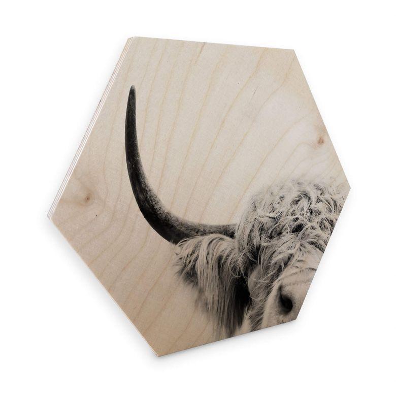 Hexagon - Holz Birke-Furnier Sisi & Seb - Bulle