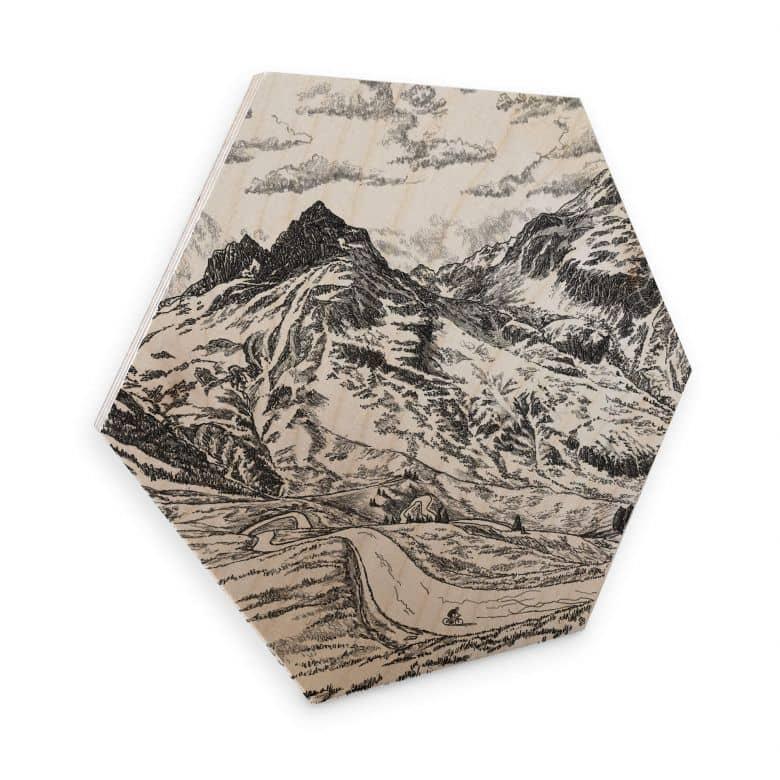 Esagoni in legno Sparshott - Col du Glandon