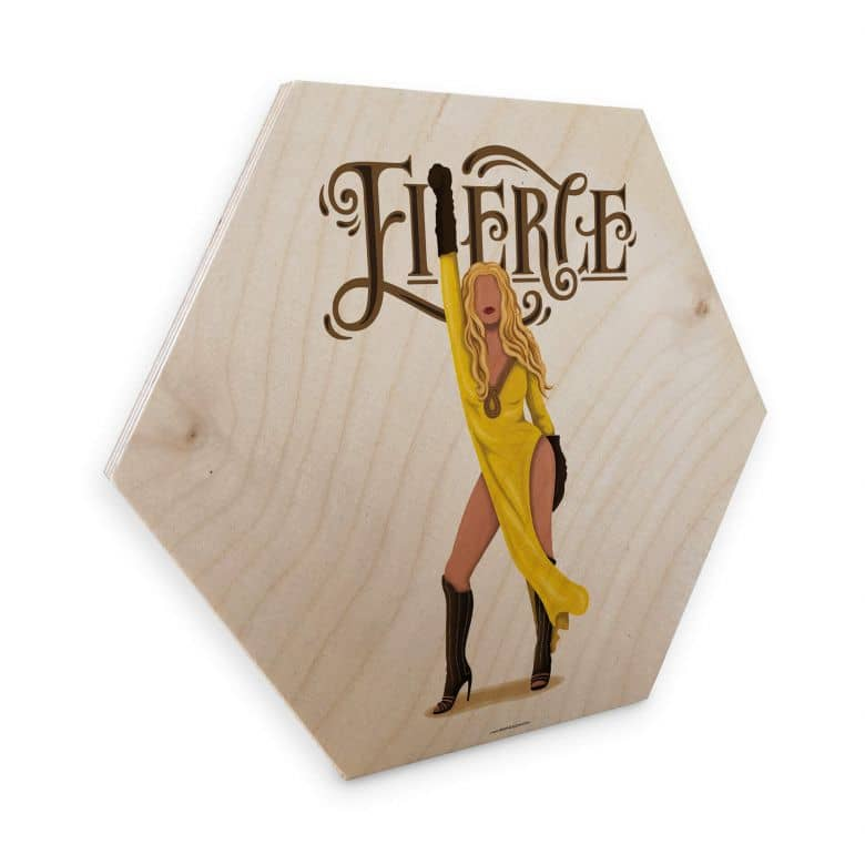 Hexagon - Holz Birke-Furnier Tohmé - Beyoncé