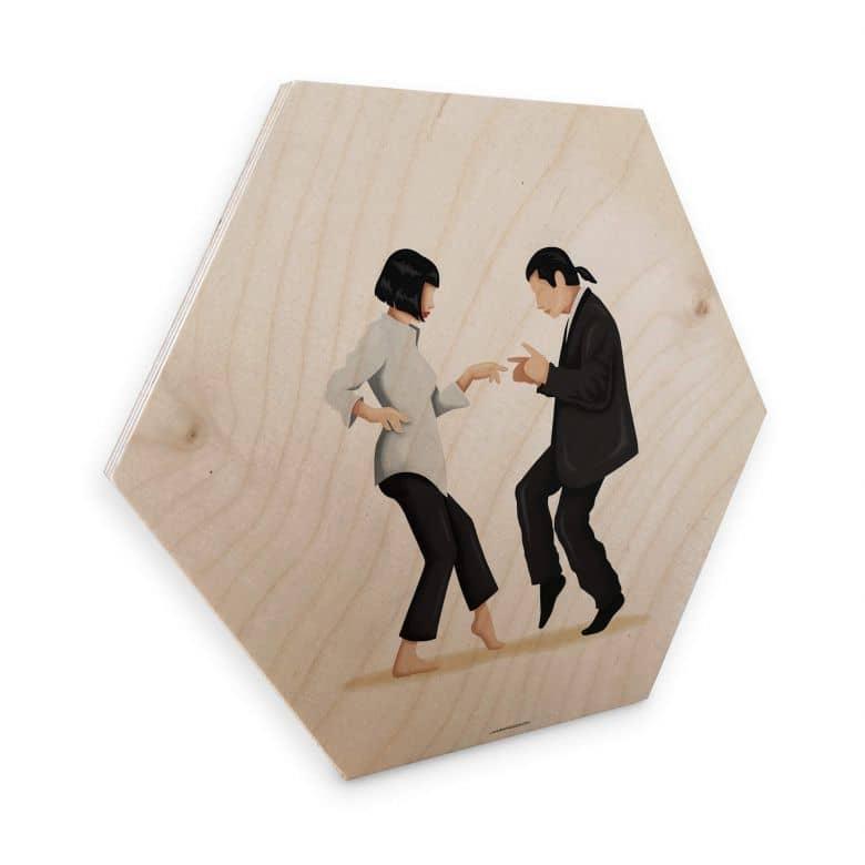 Hexagon - Holz Birke-Furnier Tohmé - Pulp Fiction