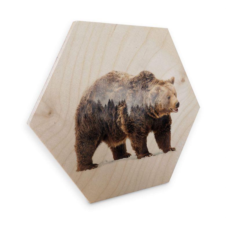 Hexagon Hout - Beáta - The Bear