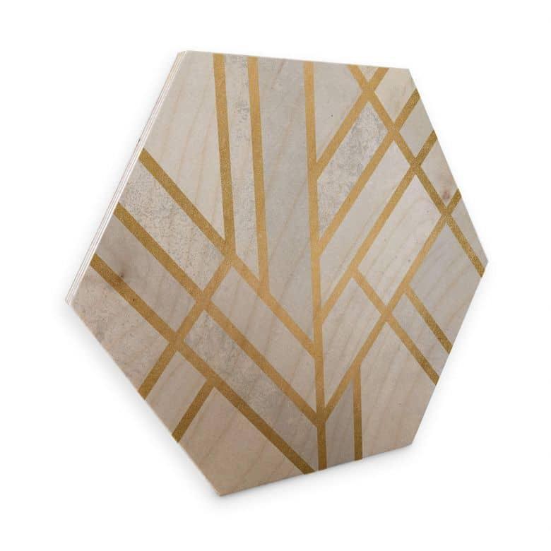 Hexagon Birch veneer - Fredriksson - Golden Hexagons
