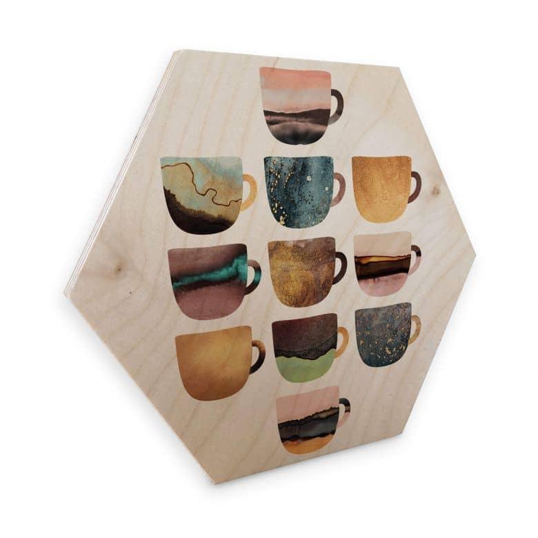 Hexagon Wood - Fredriksson - Coffee