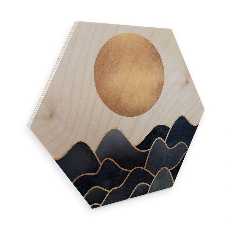Hexagon Hout berkenfineer - Fredriksson - Waves