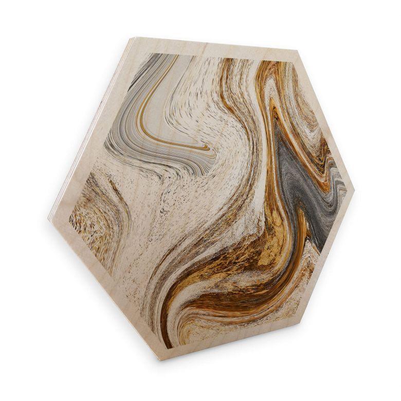 Hexagon Wood - Golden Struggle