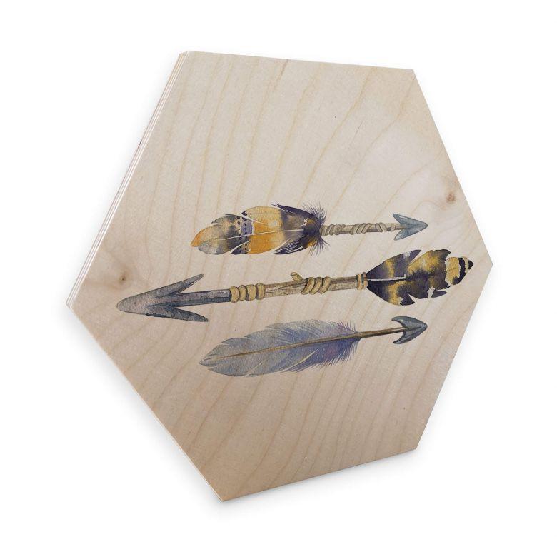 Hexagon Wood Birch Veneer - Kvilis Arrows