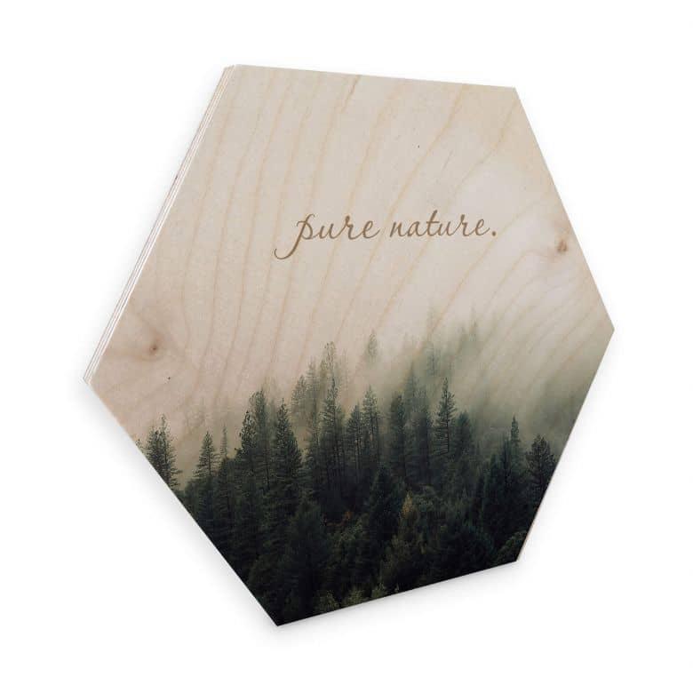 Hexagon - Holz Birke-Furnier - Pure Nature