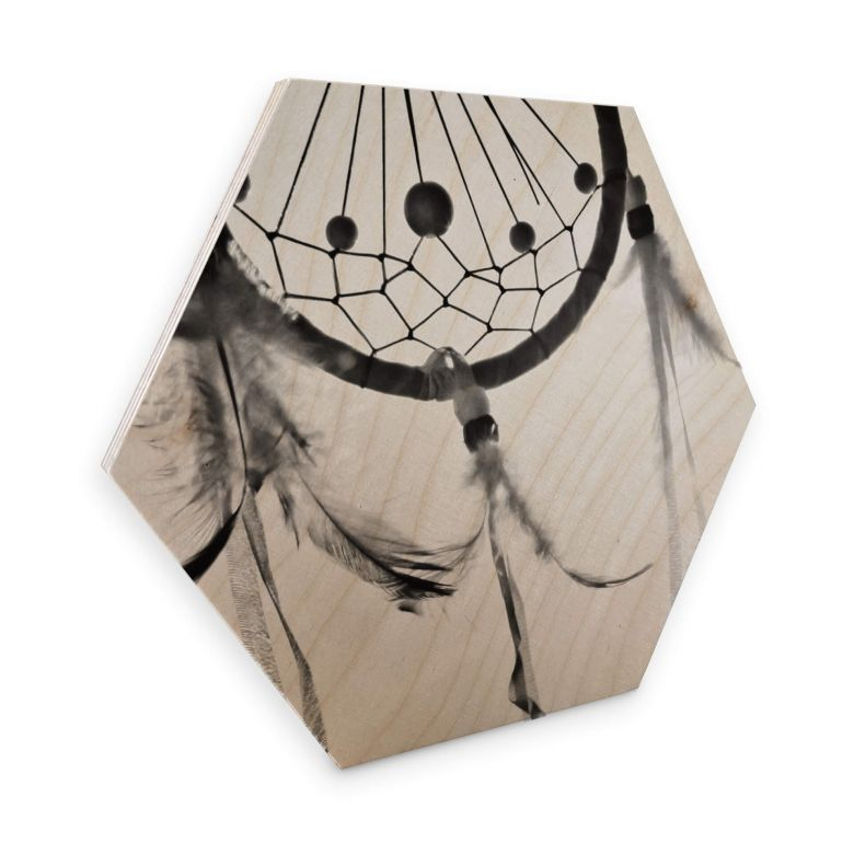 Hexagon Wood Birch Veneer - Dream Catcher