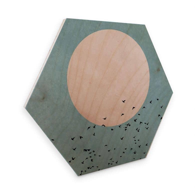 Hexagon hout - Kubistika - Moon