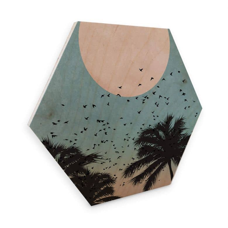 Hexagon hout - Kubistika - Sunset