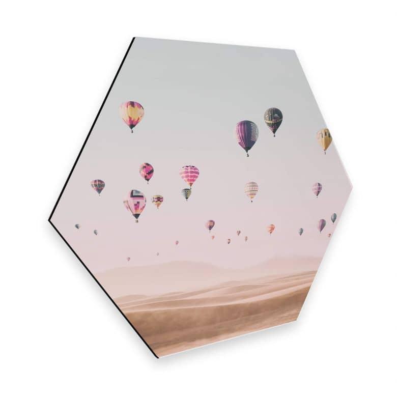 Hexagon Alu-Dibond - Sisi & Seb - Hot Air Balloons