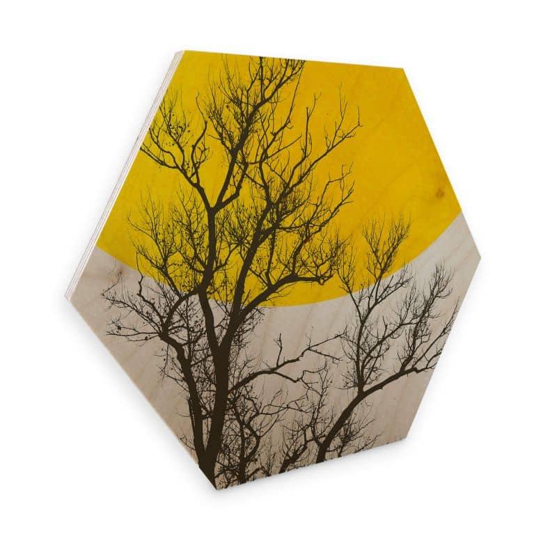 Hexagon - Wood - Birch veneer - Kubistika - Autumn Memories