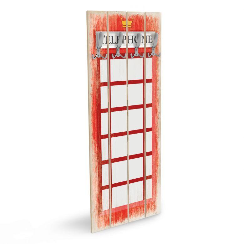 Wandgarderobe British Phone Box