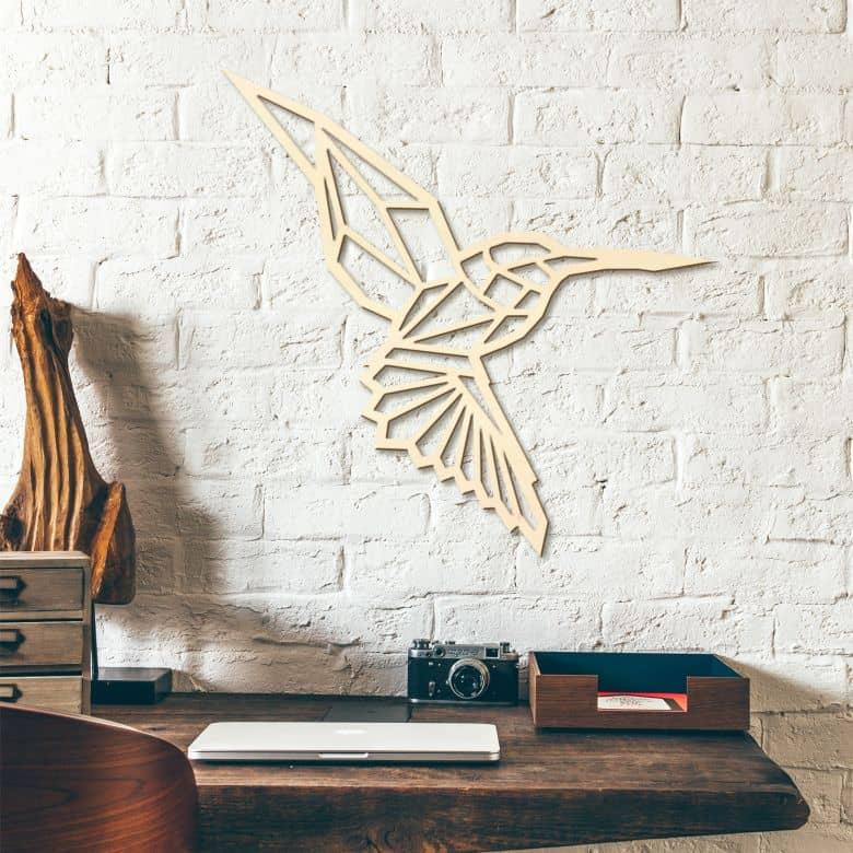 Houten Kolibrie - Origami