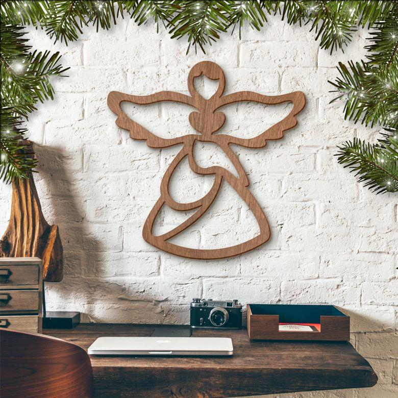 Holzkunst Mahagoni - Angel