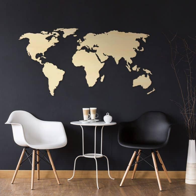 Tolle weltkarte aus holz als moderne wanddekoration wall for Weltkarte deko
