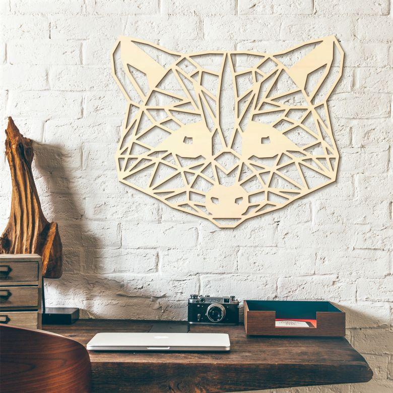 Holzkunst Pappel - Origami Waschbär