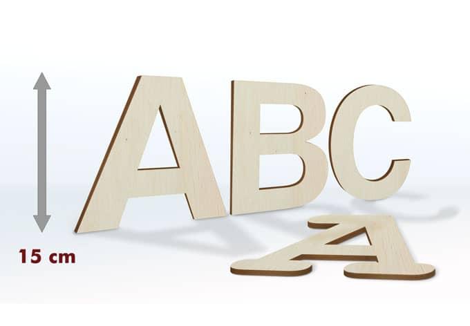 Holzbuchstaben 15 cm Buchstabenhöhe