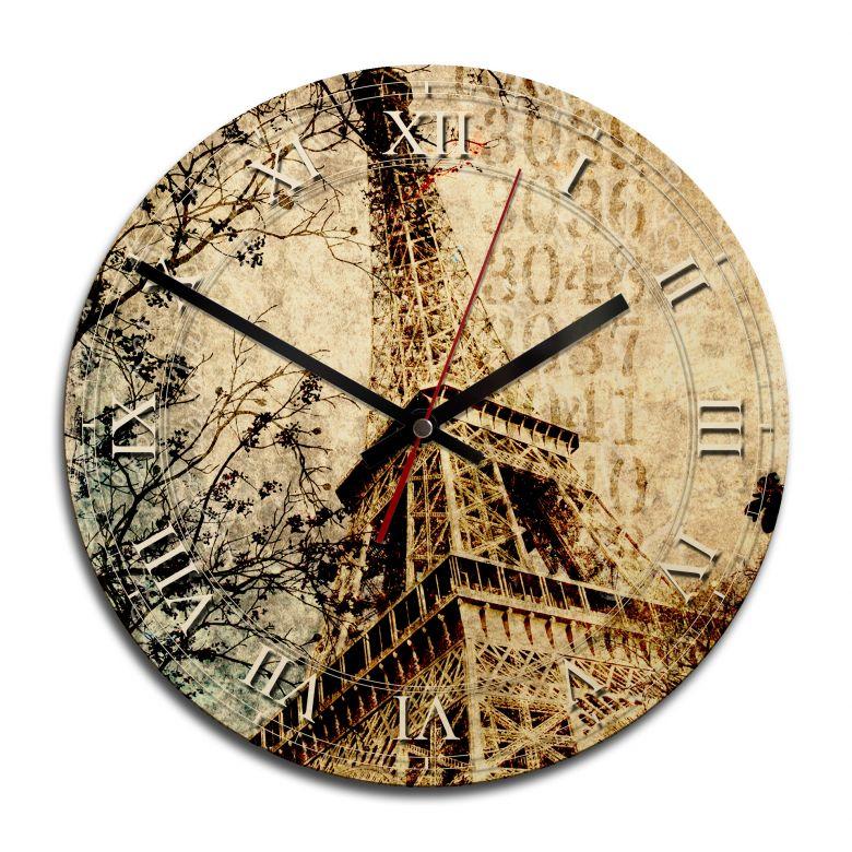Holz-Wanduhr - Nostalgic Paris