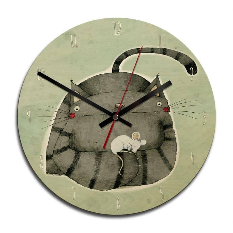 Horloge murale en bois - Loske - Amis