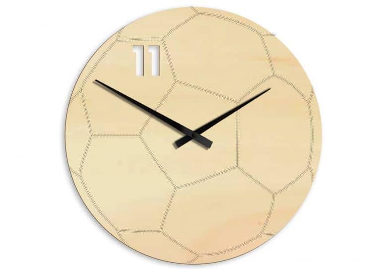 Holz-Wanduhr Fußball