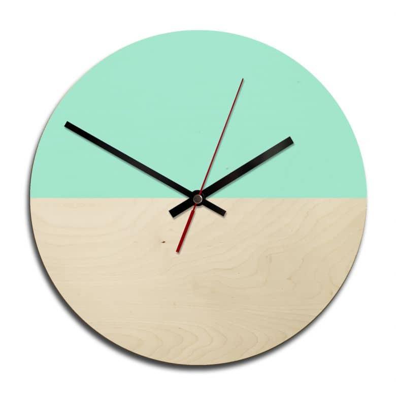 Orologio in legno - Menta