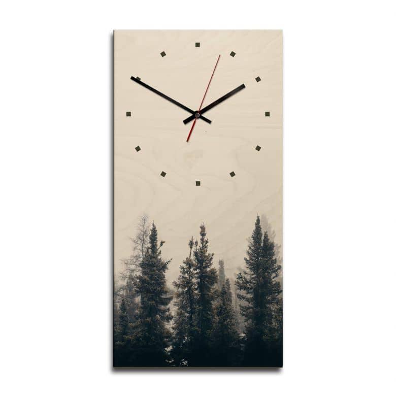 Wooden clock – Forest Idyll