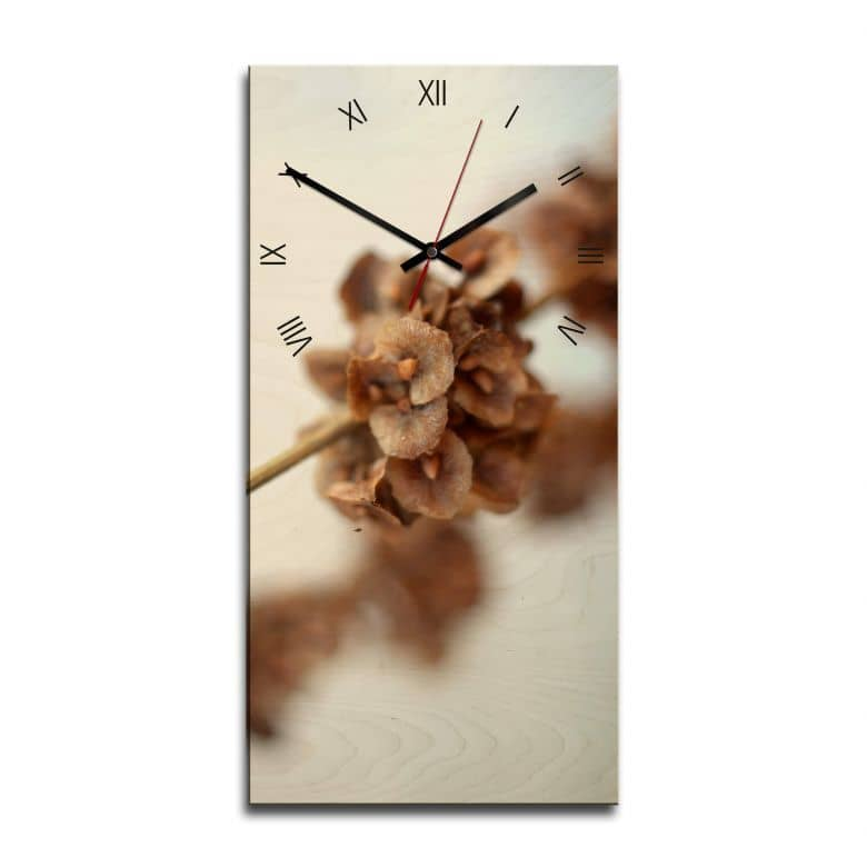 Wooden clock – Autumn Flower