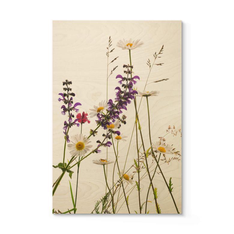 Houten Poster Kadam - Flora Marguerite