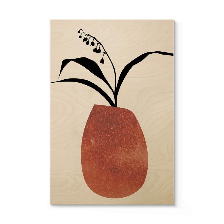 Houten Poster Kubistika - Blooming Winter