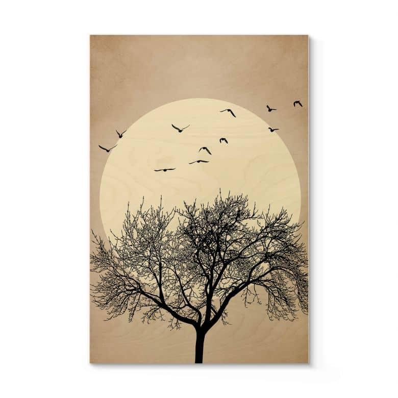 Houten Poster Kubistika - Dreaming of Winter