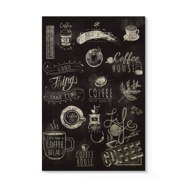 Tableau sur bois World of Coffee