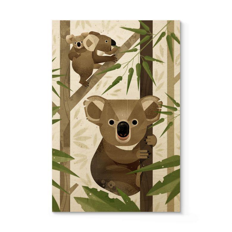 Holzposter Braun - Koala