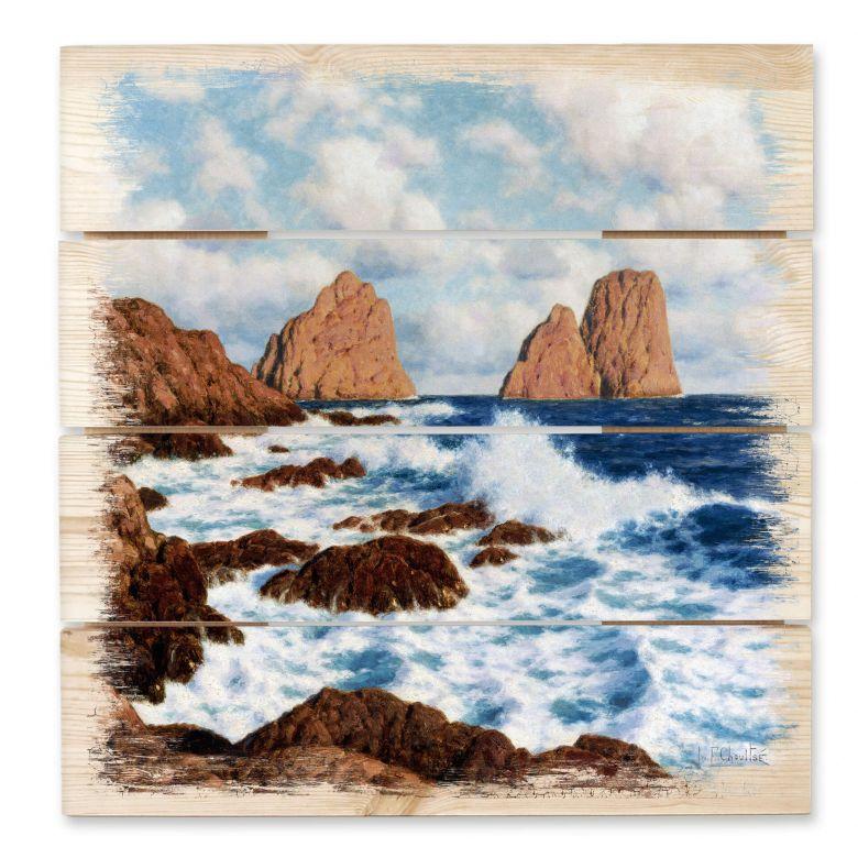Holzbild Choultsé - Die Felsen bei Capri