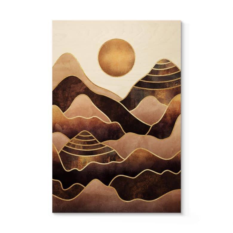 Holzposter Fredriksson - Sonnenuntergang