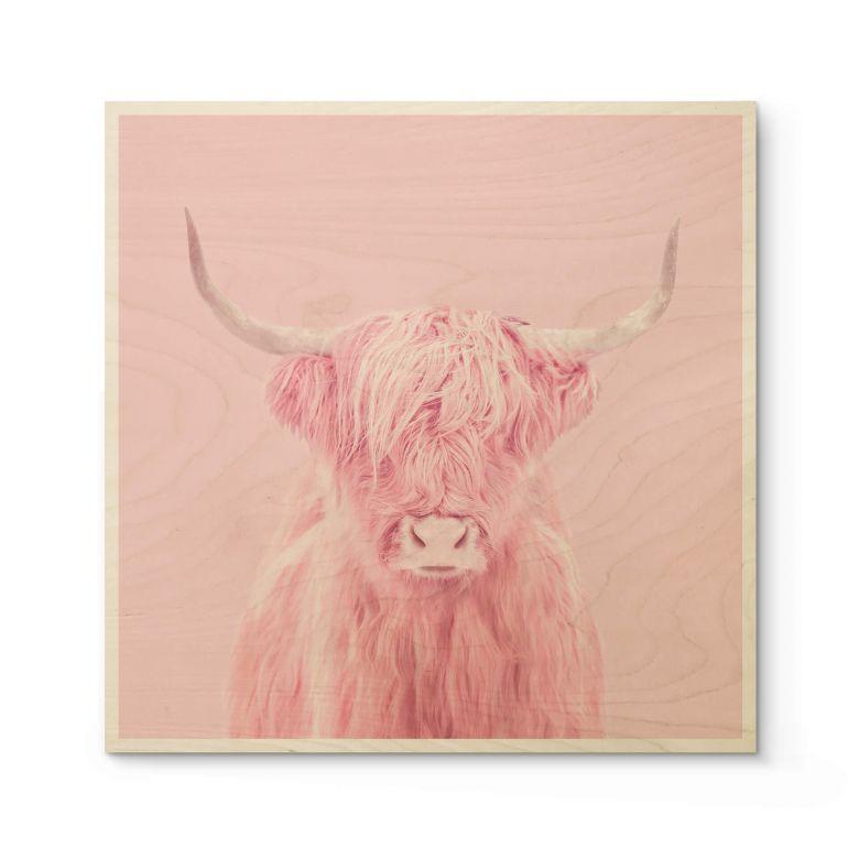 Stampa su legno Fuentes - Highland Cow