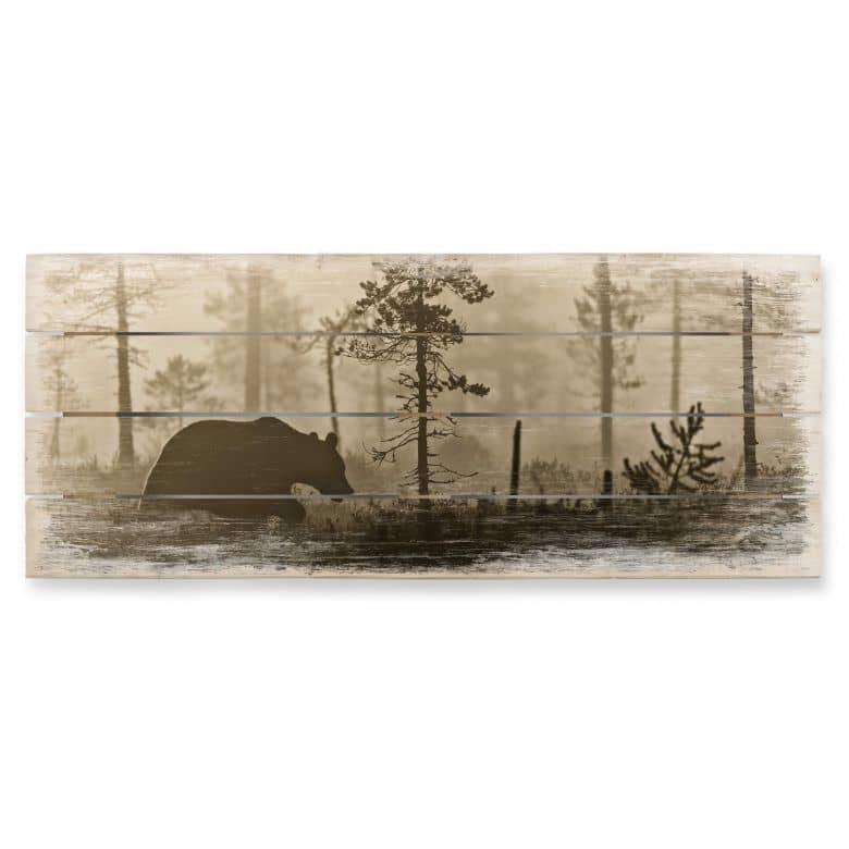Holzbild Ove Linde - Nebel am Morgen - Panorama
