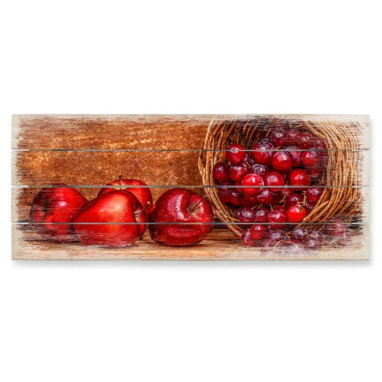 Holzbild Perfoncio - Rote Früchte - Panorama