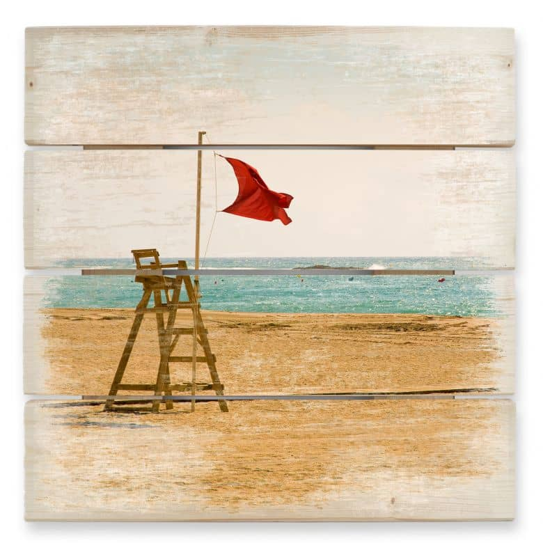 Red Flag - Wood Print