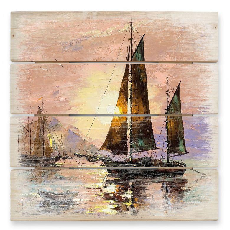 Sailing Boat - Wood Print