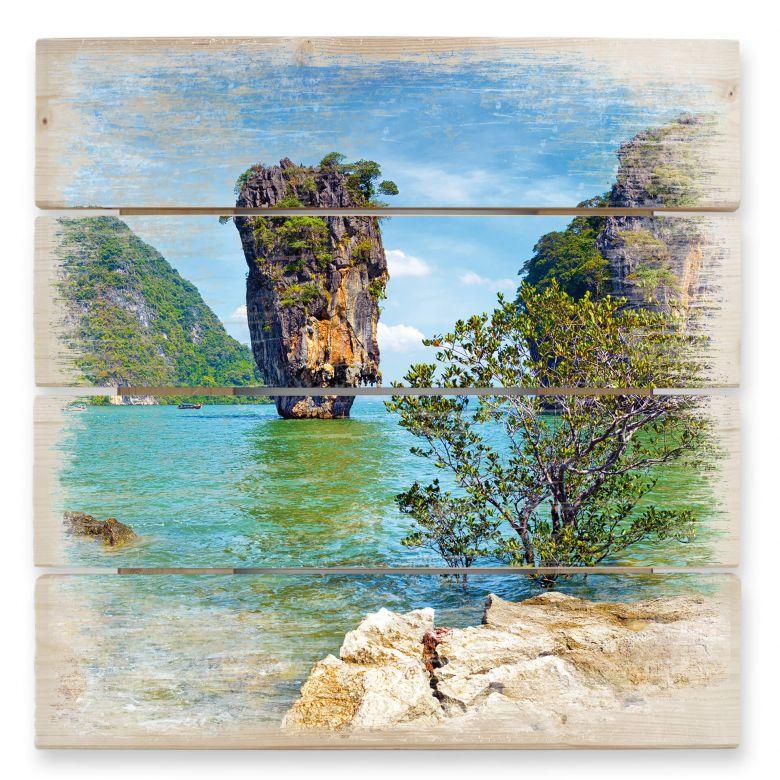 Holzbild Khao Ta-Pu Island
