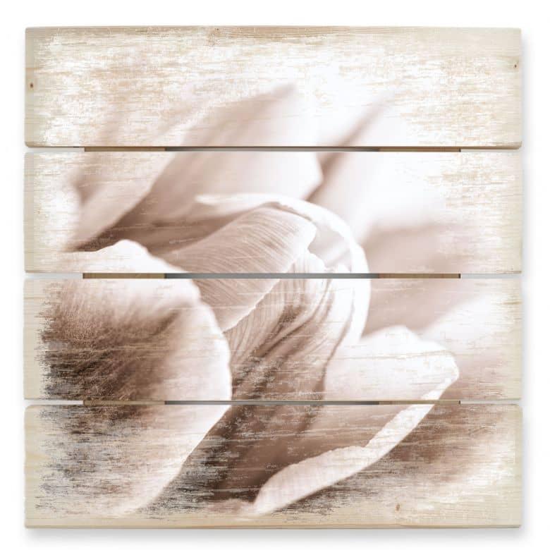 Holzbild Tulpe im Detail