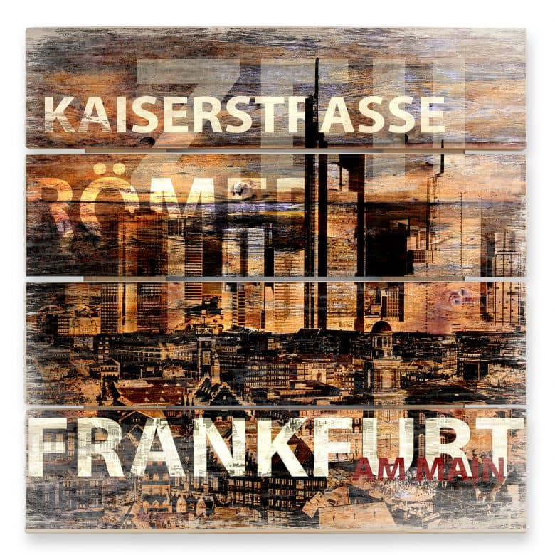 Holzbild Frankfurt Szenerie