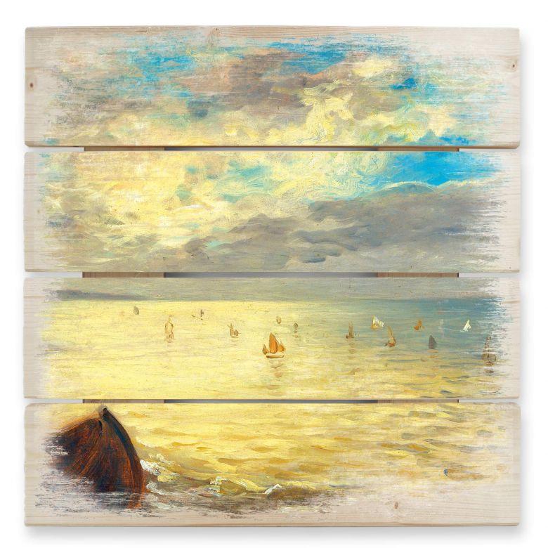 Holzbild Delacroix - Das Meer