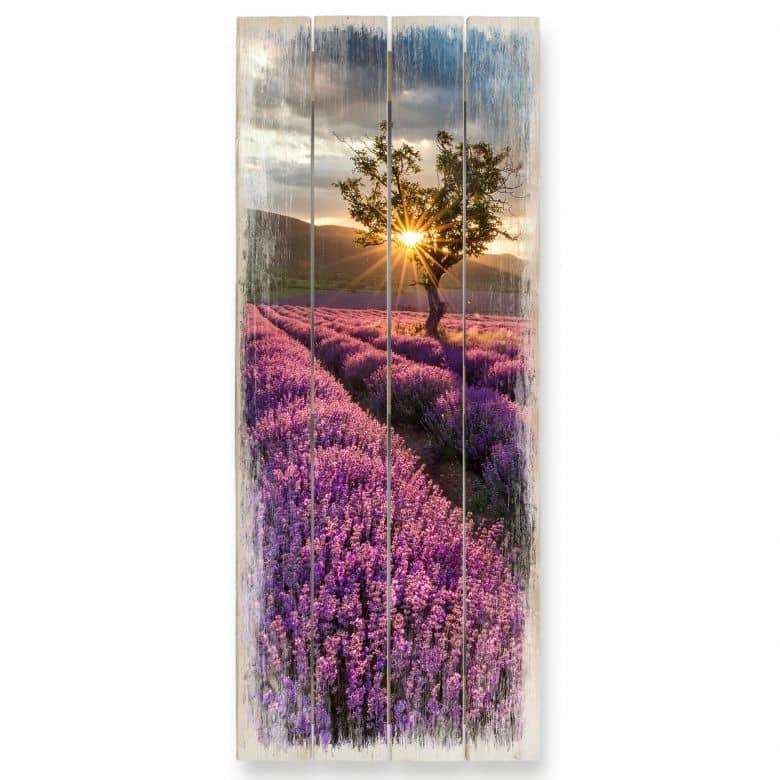 Houten Wanddecoratie Lavendel in de Provence 02