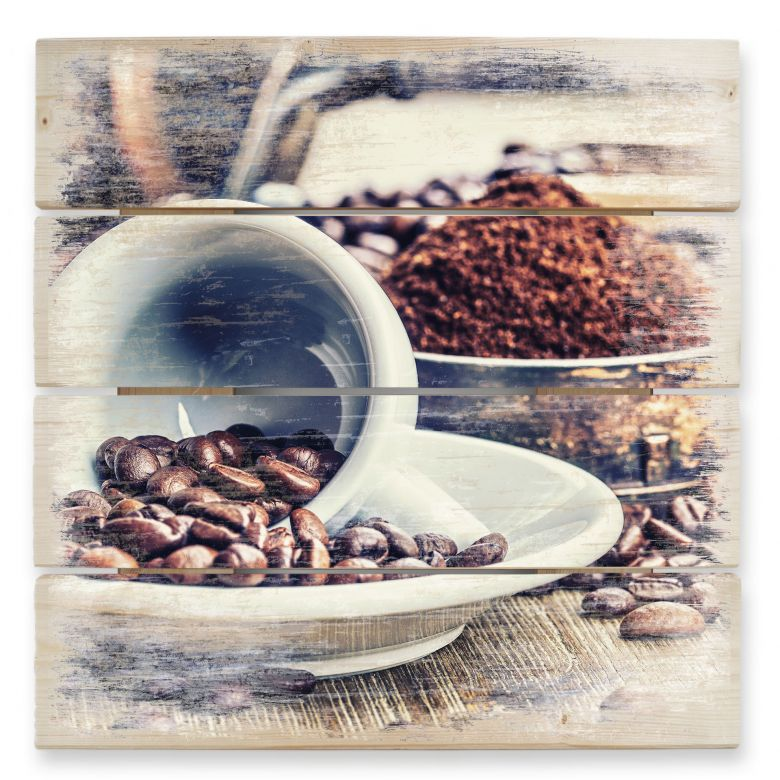 Holzbild Kaffeeträume