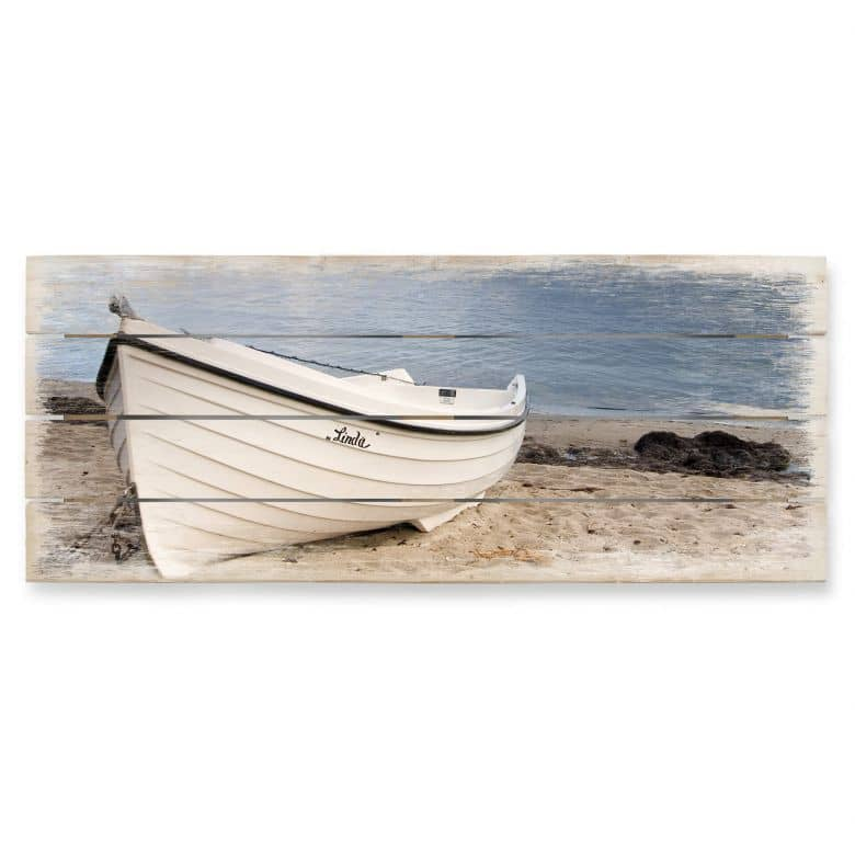 Beach Idyll - Panorama Wood Print