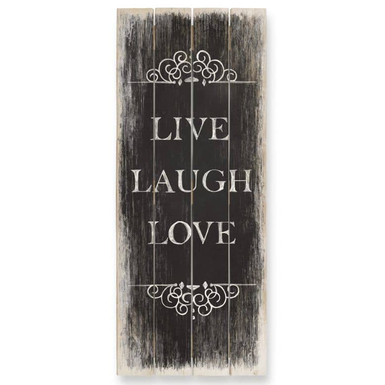 Holzbild Live Laugh Love 01 - Panorama