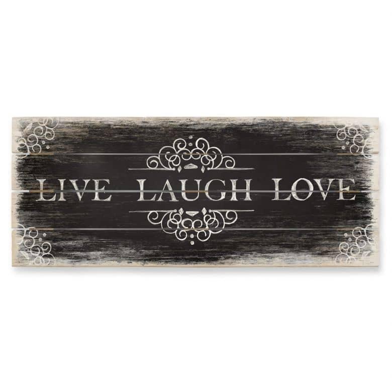 Houten Wanddecoratie Live Laugh Love 02 - Panorama